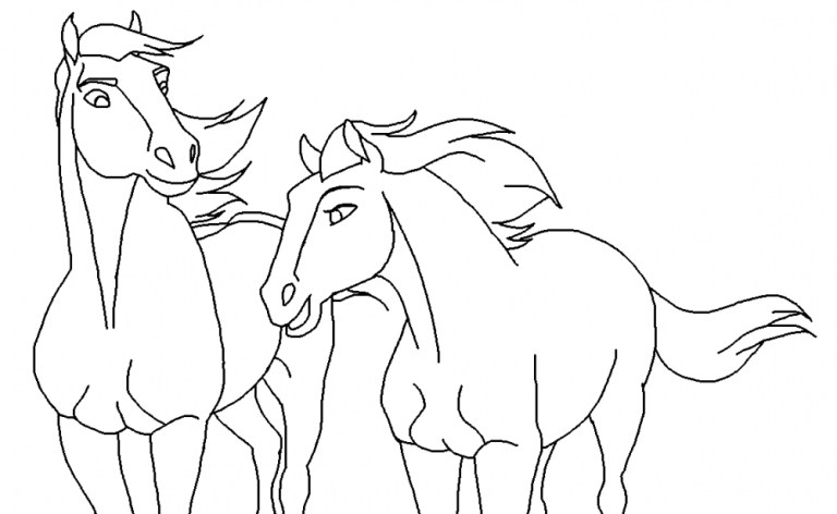 Spirit Horse Pictures To Color