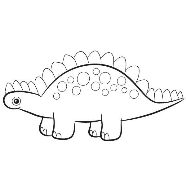 Stegasaurus Coloring Pages