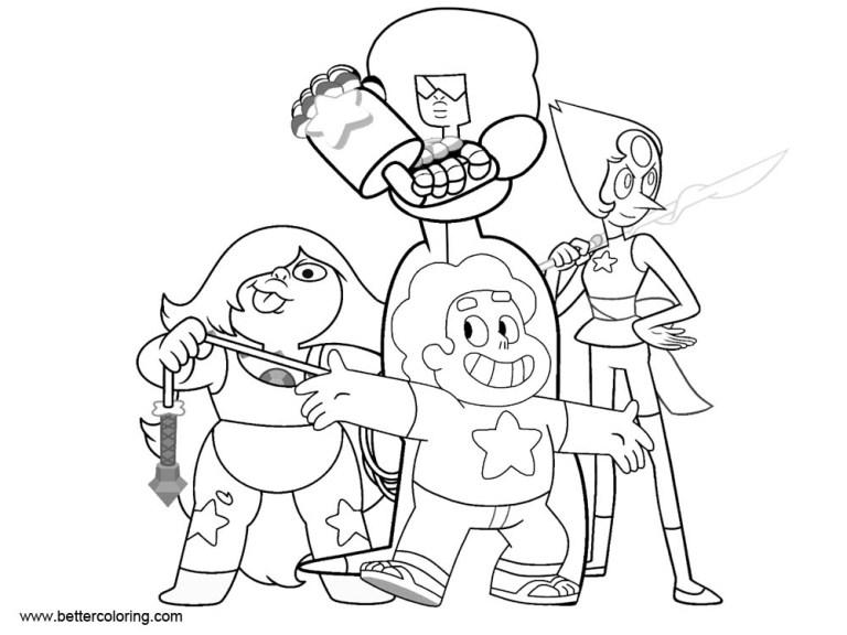 Steven Universe Rose Coloring Pages