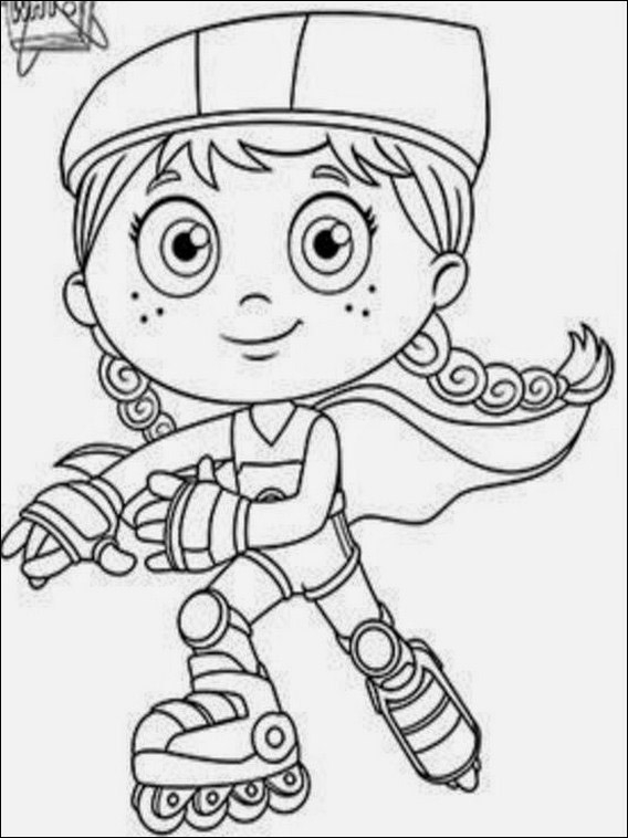 Super Why Coloring Sheets