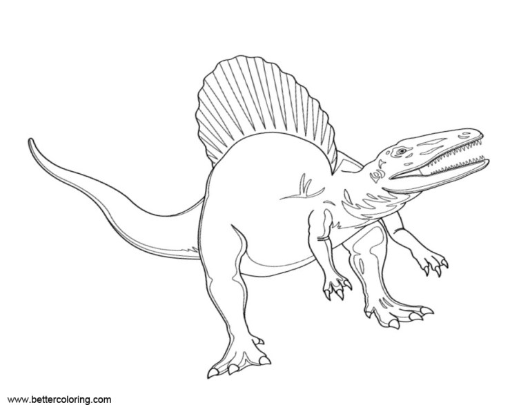 T Rex Vs Spinosaurus Coloring Page