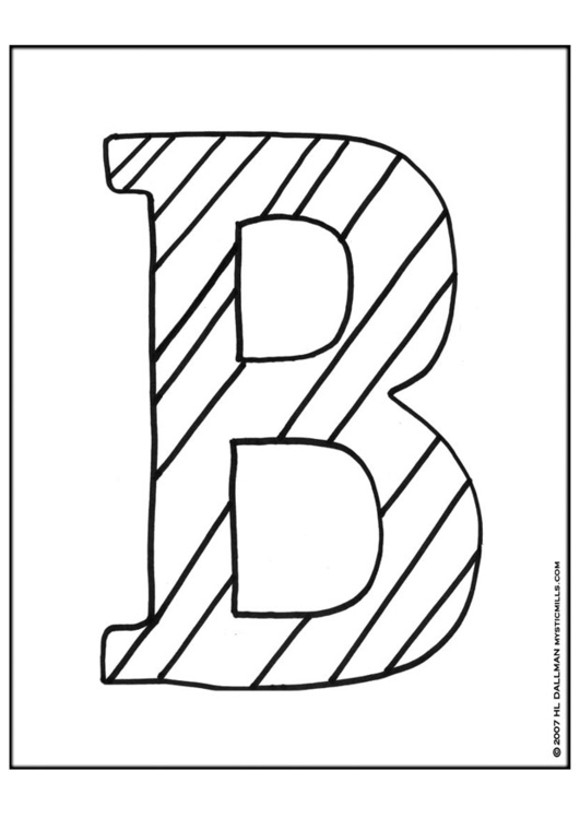 The Letter B Coloring Pages