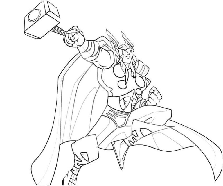 Thor Coloring Pages to Color Books