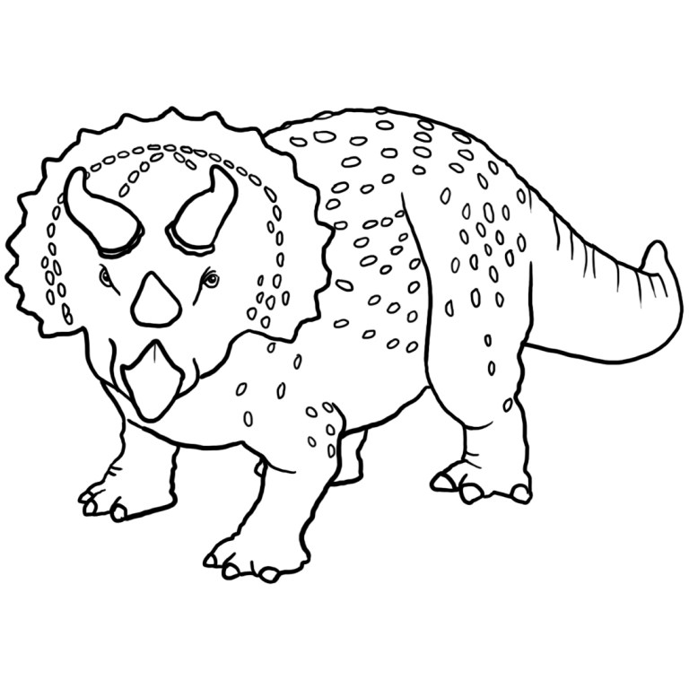 Triceratops Coloring Sheet