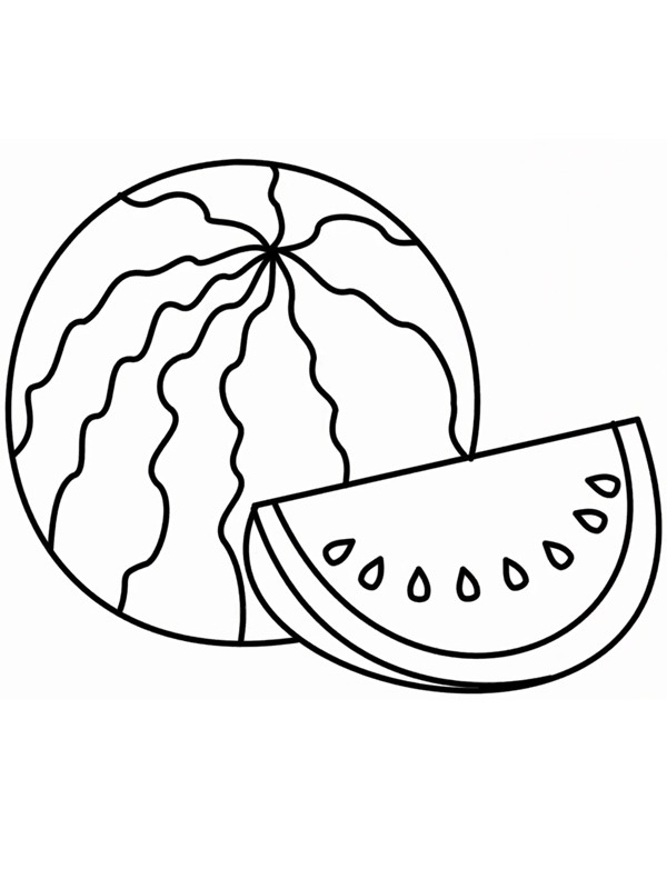 Watermelon Picture For Coloring