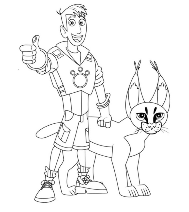 Wild Kratt Coloring Pages