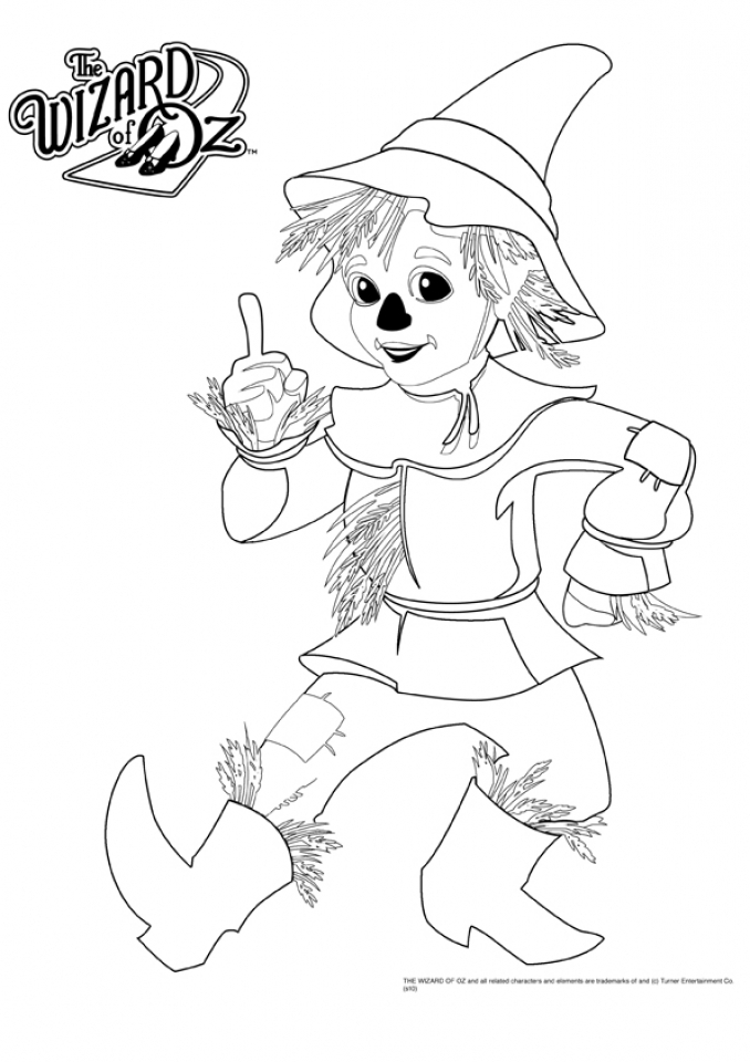 Wizard Of Oz Coloring Sheet to print