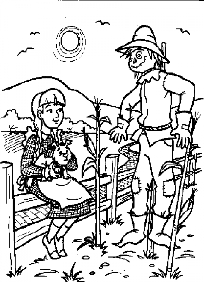 Wizard Of Oz Free Coloring Pages