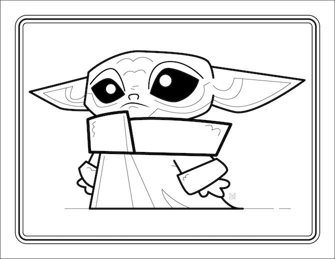 Yoda Head Coloring Page