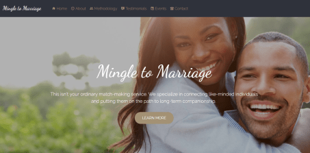 Mingle to Marriage Website Design