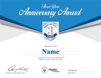 3 Year Anniversary Certificate Template
