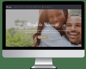 Mingle to Marirage Website Design
