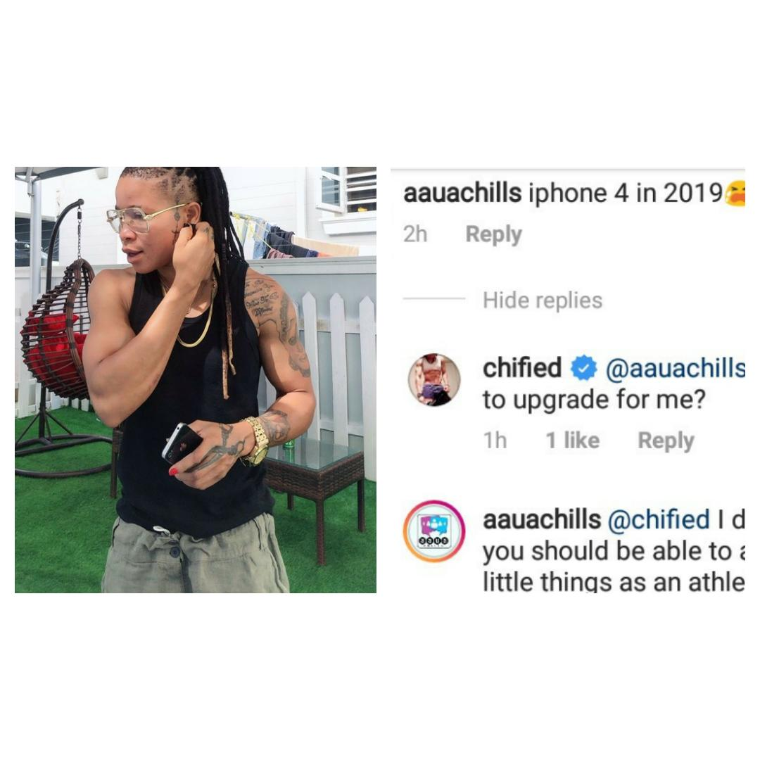 Chified replies a follower who mocked her for using iPhone