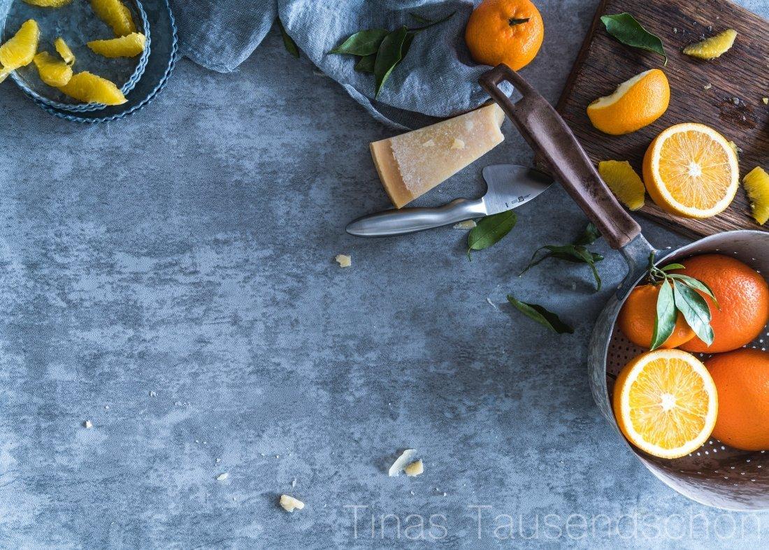 Orangen Basilikum Spaghetti