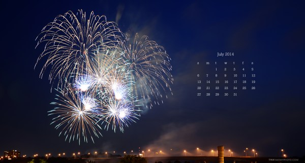 July Desktop Calendar Download!
