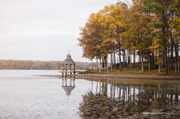 Midlothian-Swift-Creek-Lake-Gazeebo-Woodlake-Fall-Yellow-Leaves