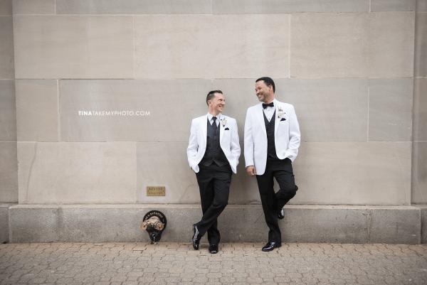 10-Washington-DC-Virginia-Gay-Same-Sex-Wedding-Men-12-13-14-Mayflower-City-Sidewalk-Photographer-White-Tuxedo