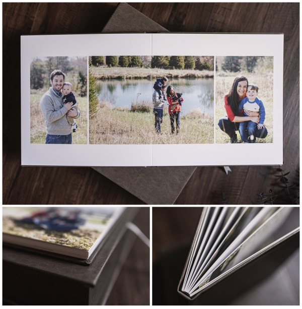 leatherette photo album design