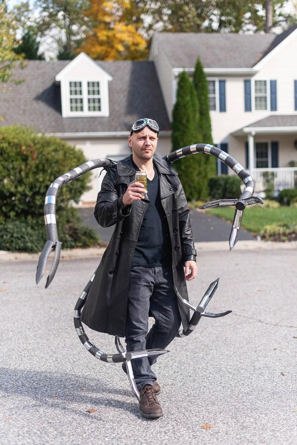 spider-man family halloween costume rva photographer doc ock gwen diy