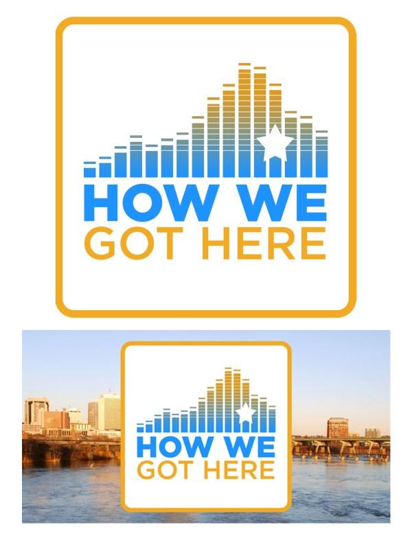 How We Got Here Podcast Logo Design