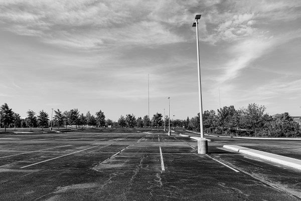 quarantine one year later empty parking lot
