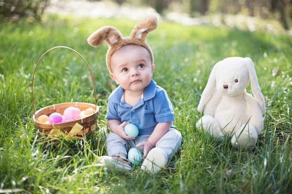 backyard easter bunny baby setup eggs