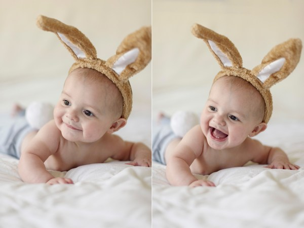 easter baby bunny ears happy
