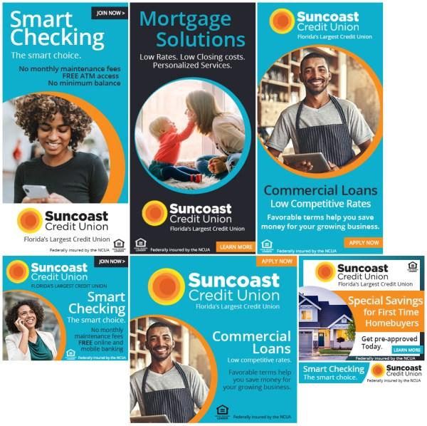 Suncoast Credit Union Web Ads