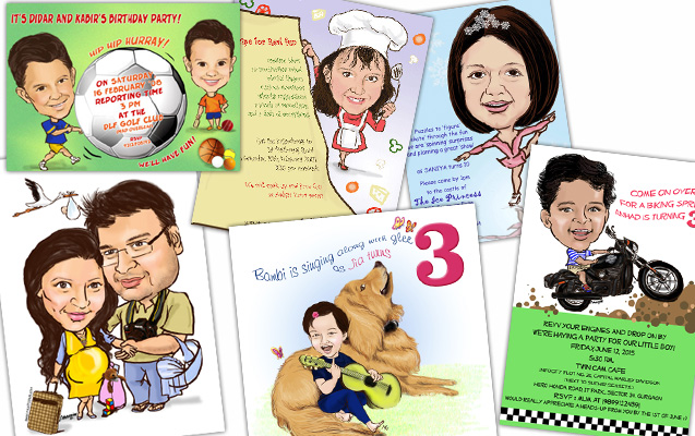 c cards2 birth announcements to caricature birthday party invitations we can create something