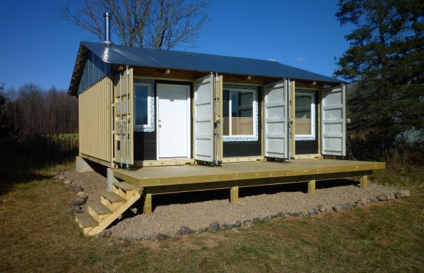 Secure Shipping Container Cabin Design