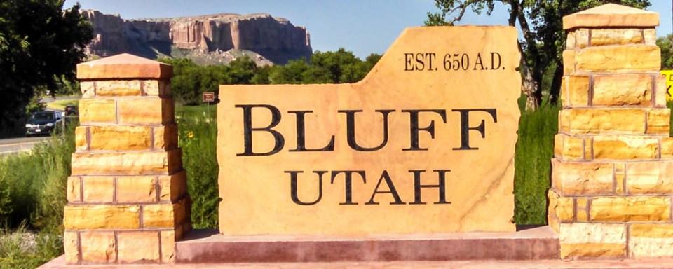 Bluff, Utah Sign