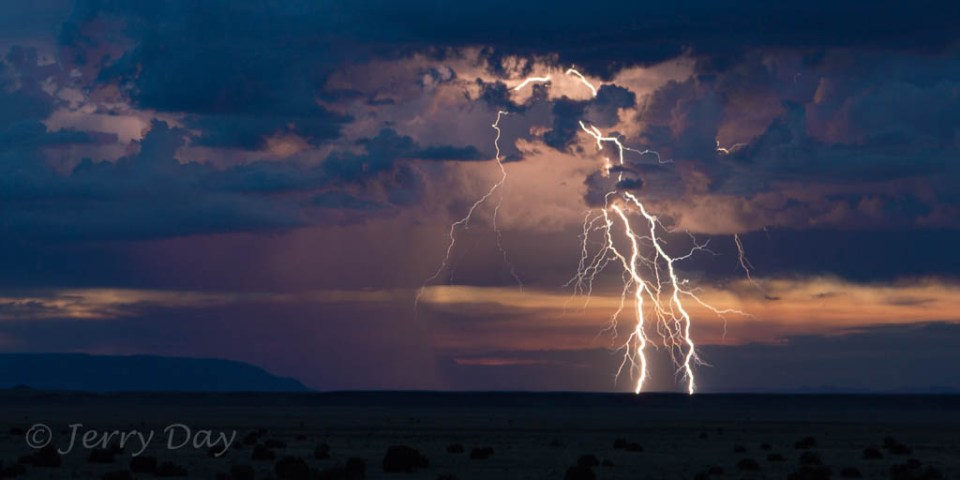Lightning Strikes Near Wupatki National Monument