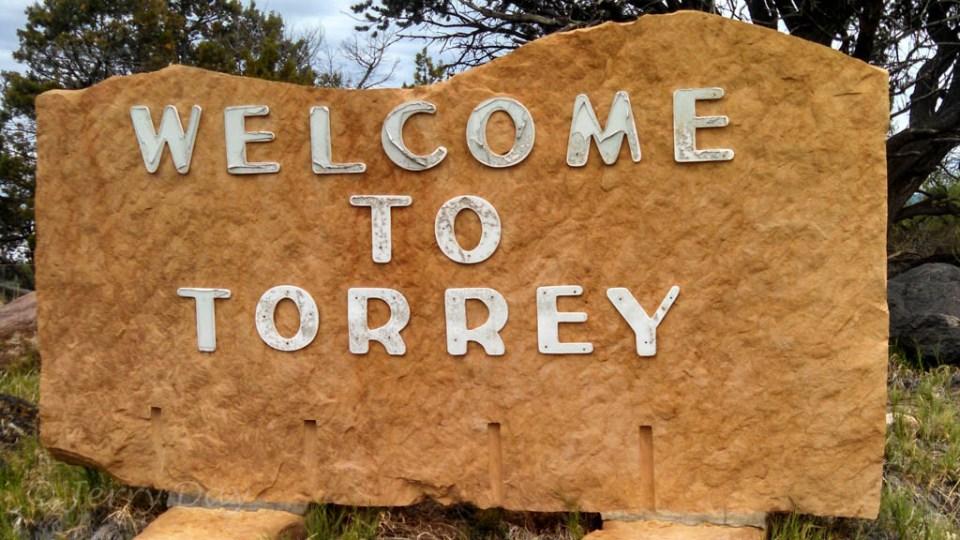 Welcome to Torrey, Utah