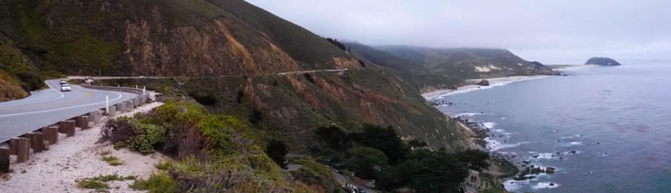 Coastal highway CA-1 near Big Sur, California
