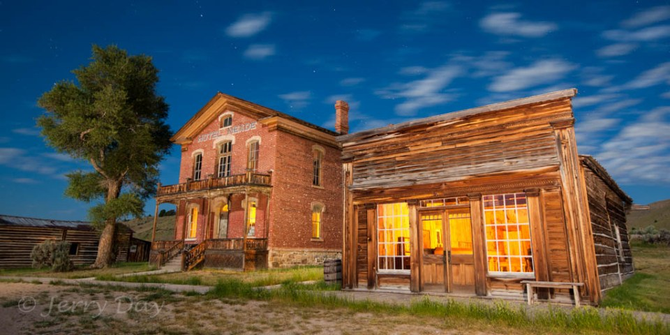 Bannack Saloon and Hotel, Bannack State Park, Montana