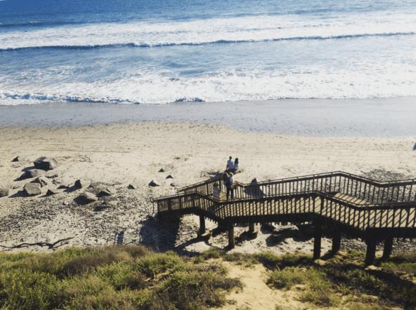 carlsbad state beach stairway