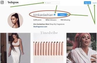 Real kim kardashian Instagram profile account
