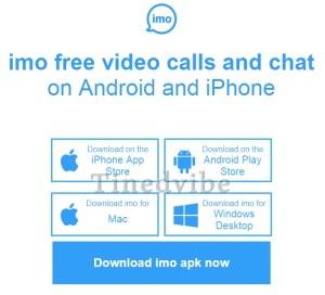 Download IMO Messenger Sign Up IMO video call