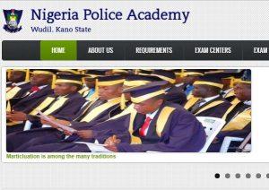 Nigeria Police Academy Form 2018/2019
