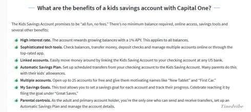 Capital One 360 Kids Savings Account
