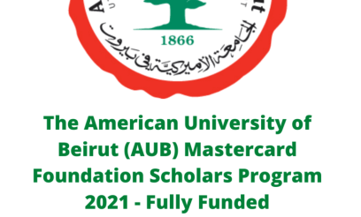 American University of Beirut (AUB) MasterCard 2021 Scholarship for Graduate - Fully Funded
