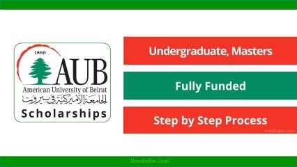American University of Beirut MasterCard 2021 Scholarship