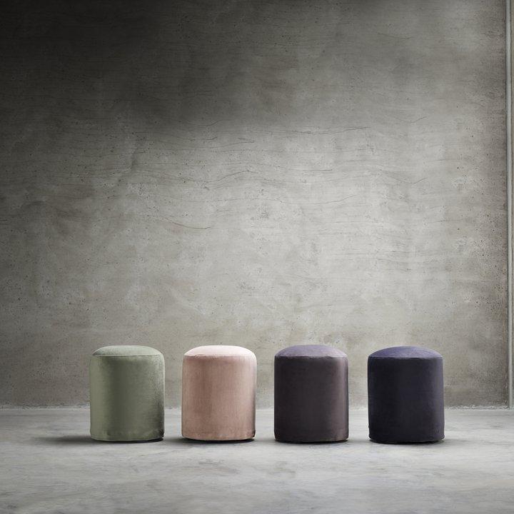 Pouf round dia 35 x H 45 cm velvet rose  Products  Tine K Home