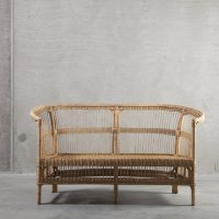 Couch in rattan, 150 x 76 x H 36/80 cm, nature | Products ...