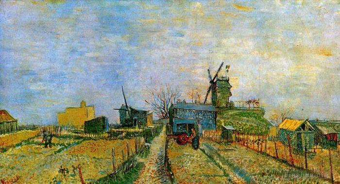 《Vegetable Gardens in Montmartre 2》 - 文森特·威廉·梵高的古董油畫作品的收藏,購買,賞析