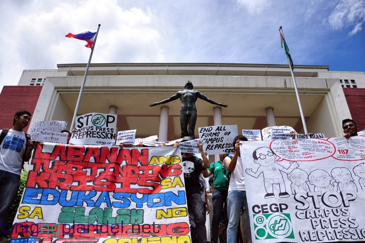 In Focus: UP students stage rally outside CHEd