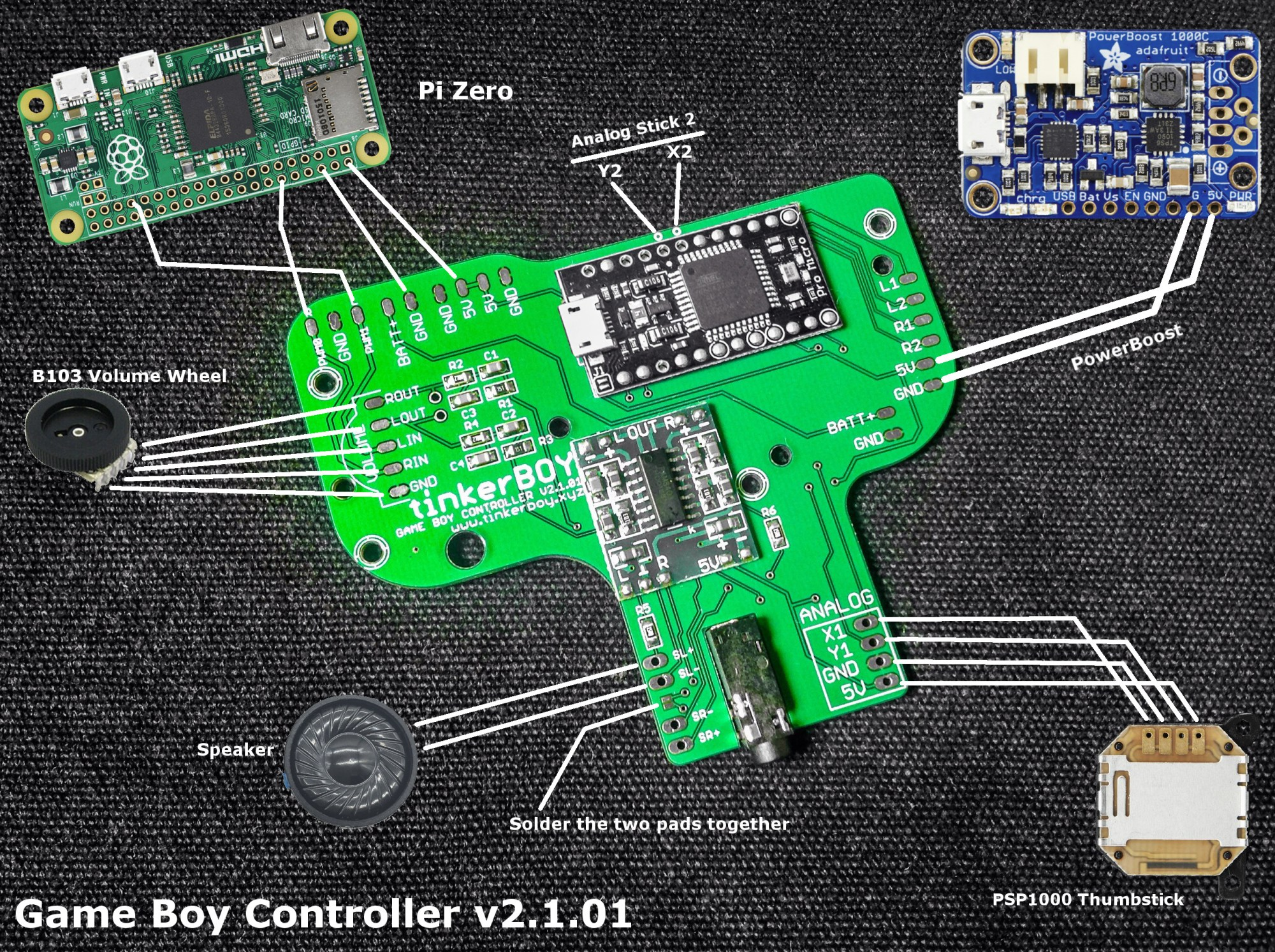hight resolution of this is how you wire the game boy controller v2 1 and v2 2