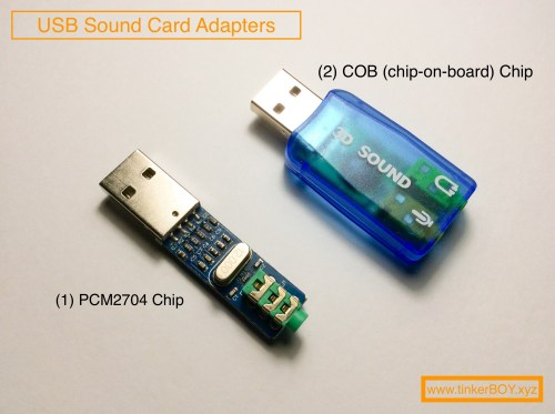 small resolution of these are for the two most popular usb sound adapters with the 1 pcm2704 chip and 2 cob chip on board chip