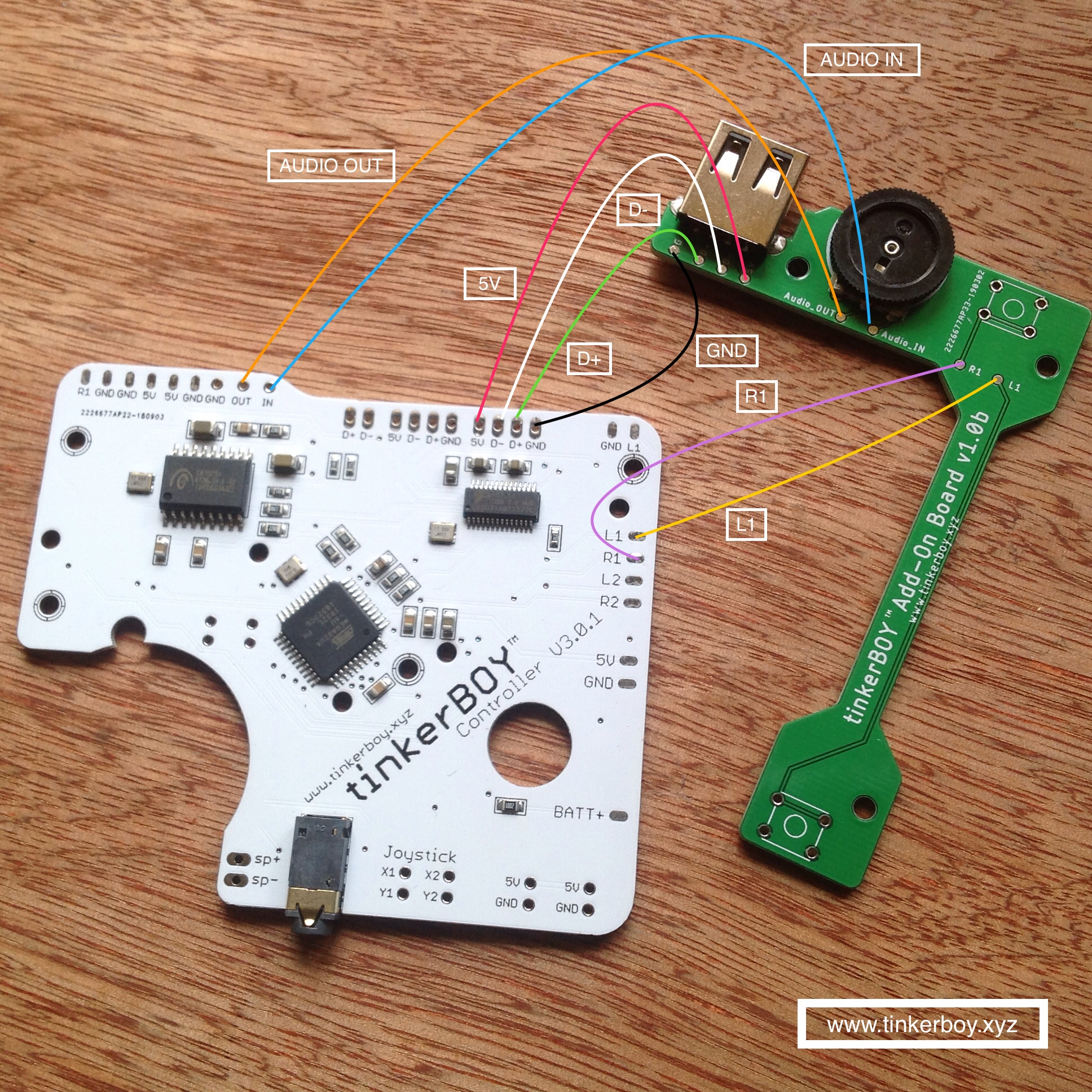 hight resolution of wiring the tinkerboy add on board for the tinkerboy controller v3