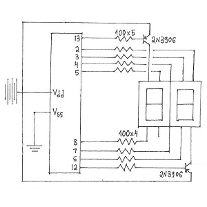 Arduino 2-Digit 7-Segment Display Circuit Wiring